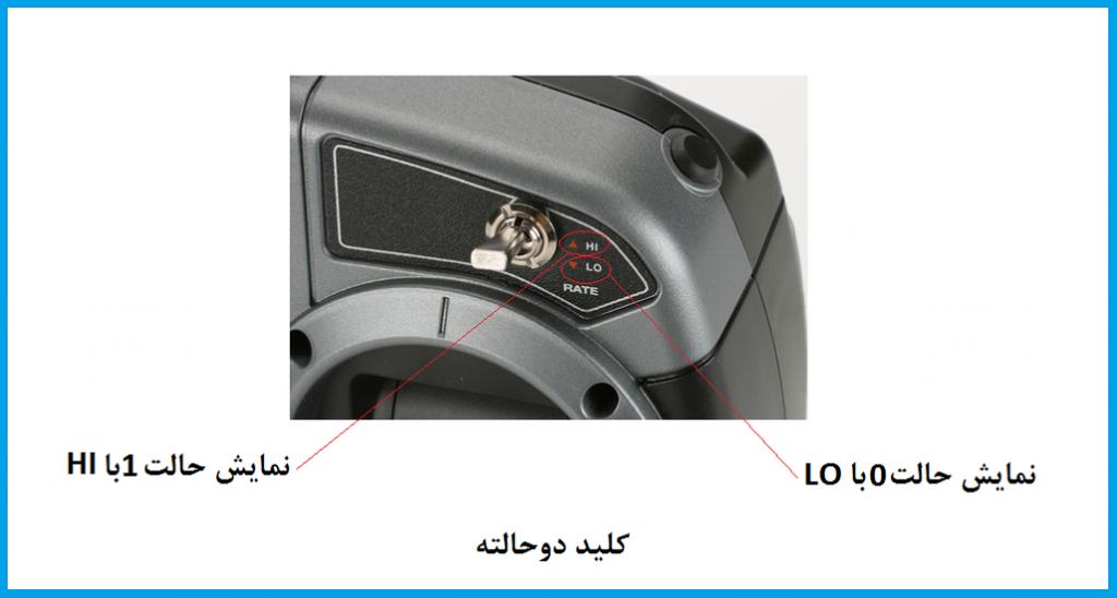 کلیدهای بالای فرستنده رادیو کنترل