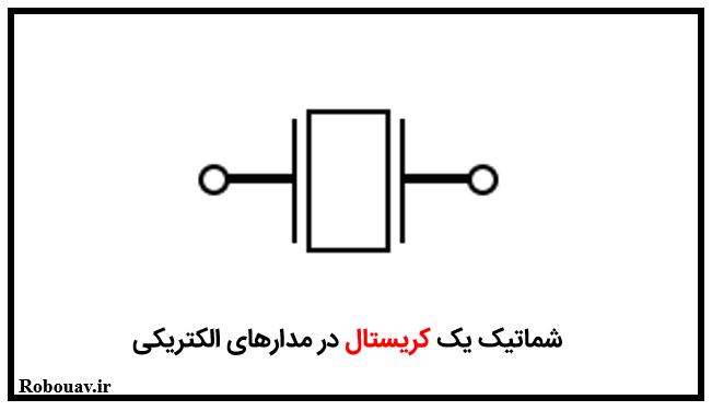 شماتیک یک کریستال در مدارهای الکتریکی