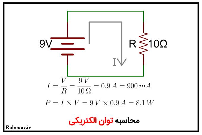 مثالی از محاسبه توان الكتريكي