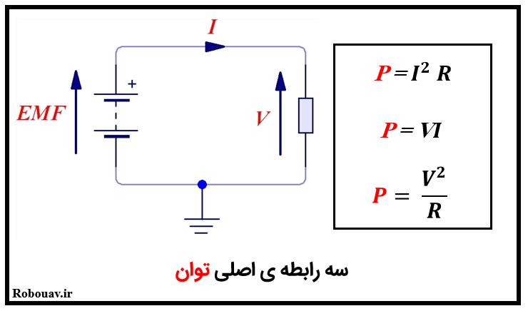 فرمول های توان الكتريكي