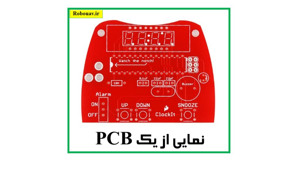 نمایی از یک PCB