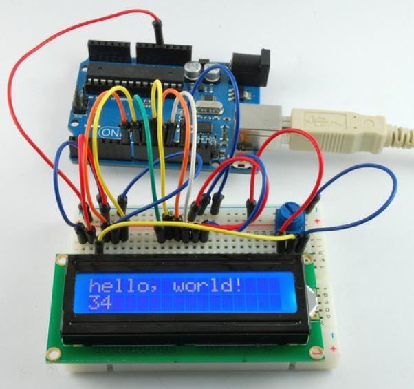 نمایش متن روی LCD کاراکتری  با arduino