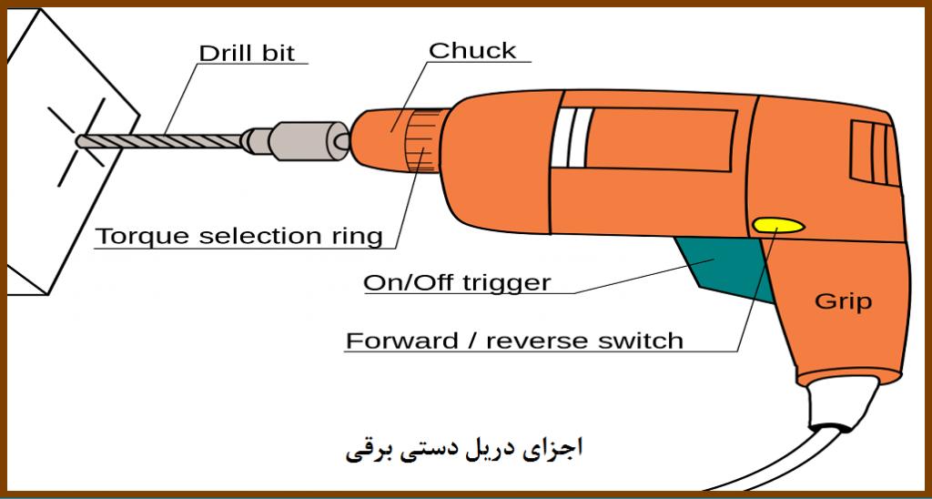 اجزای دریل دستی برقی