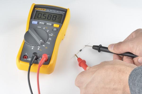 اندازه گیری Forward voltage دیود