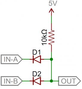 استفاده از دیود در گیت منطقی AND- کاربرد دیودها