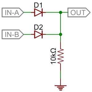 استفاده از دیودها در گیت OR - کاربرد دیودها