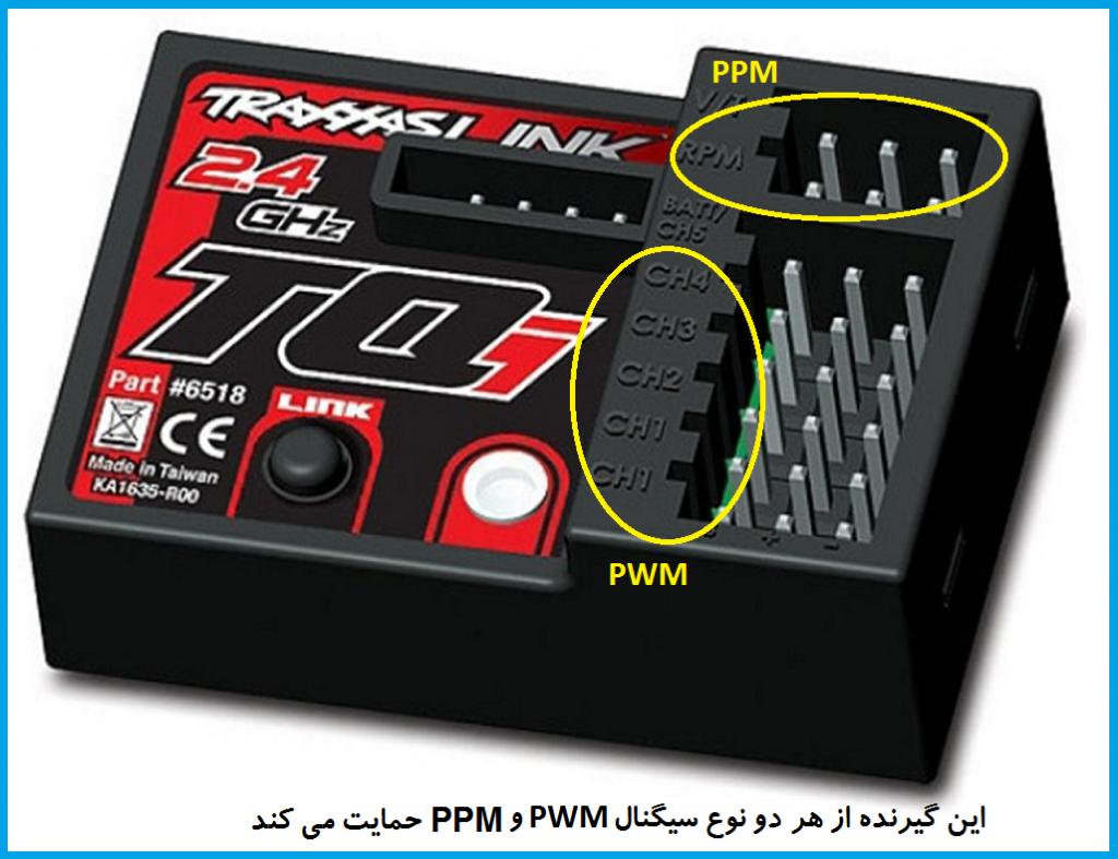 سيگنال PPM در گيرنده راديوكنترل