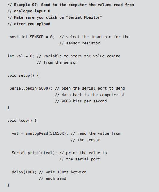 کد راه اندازی فتوسل با آردیونو