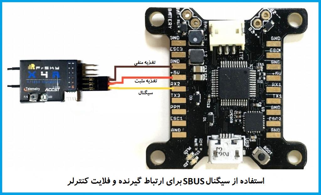 نحوه اتصال سیگنال SBUS و اتصال آن به فلایت کنترل