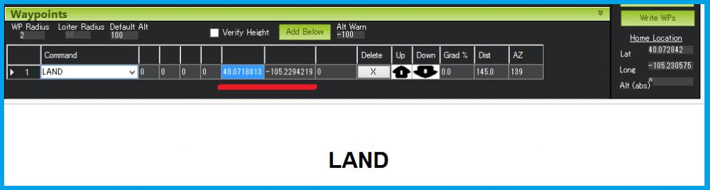 ايجاد ماموريت در ميشن پلنر با دستور LANd
