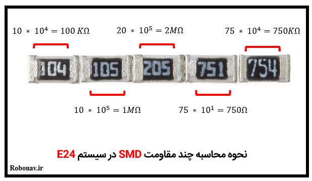 محاسبه مقدار مقاومت SMD