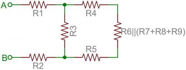 محاسبه مقاومت دیده شده  -2