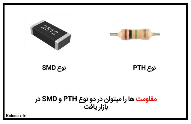مقاومت های PTH و SMD