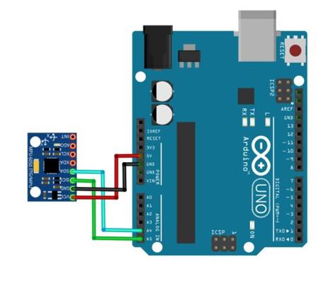 اتصال MPU6050 به آردوینو
