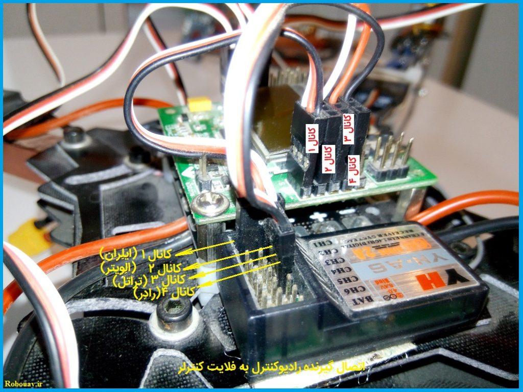 اتصال گیرنده رادیوکنترل به فلایت کنترل