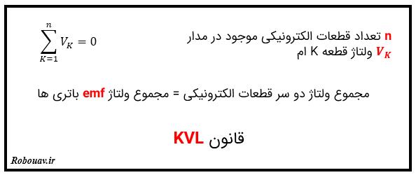 قانون KVL - قوانین کیرشهف