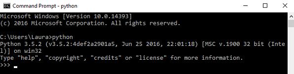 چک کردن نصب پایتون با cmd