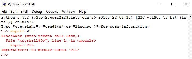 import کردن کتابخانه PIL قبل از نصب آن با pip