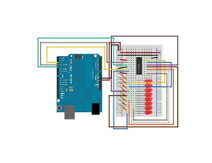 راه اندازی چند LED با شیفت رجیستر به کمک آردوینو